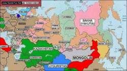 Ruslar'ın işgal ettiği Türk Bölgeleri ve Kafkas halkları.